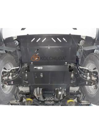 Защита двигателя, радиатора, редуктора для авто Mitsubishi L200 2019- V-2,4TDI ( TM Kolchuga ) ZiPoFlex