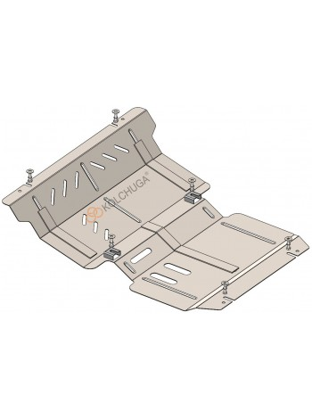 Защита двигателя, радиатора, редуктора для авто Mitsubishi L200 2019- V-2,4TDI ( TM Kolchuga ) Стандарт