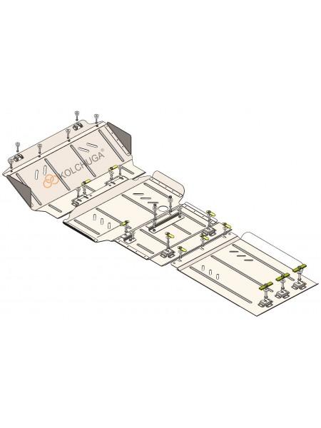 Защита двигателя, КПП, радиатора, раздатки, редуктора для авто Nissan Navara IV D23 2014-2019 V 2,3 DCI (выпуск автомобиля до 01.05.2019) ( TM Kolchuga ) ZiPoFlex