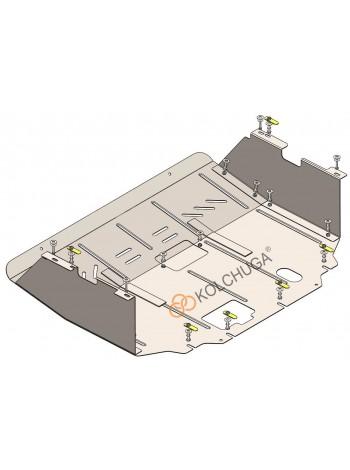 Защита двигателя, КПП, радиатора для авто Ford Tourneo Custom V362 MCA 2019- 2.0TDCi ecoblue euro 6,2, 20.05.19 г. (АКПП, передний привод) ( TM Kolchuga ) Стандарт