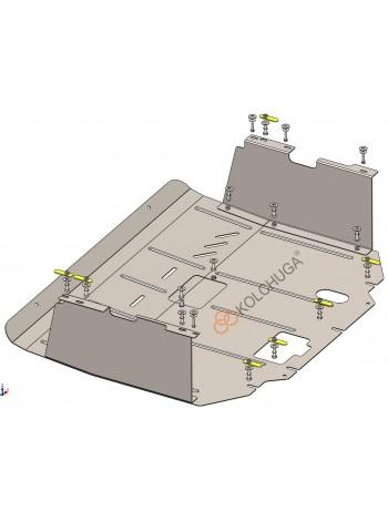 Защита двигателя, КПП, радиатора для авто Ford Transit V363 MCA 2019- 2.0TDCi ecoblue euro 6,2, 20.05.19 г. (V363 MCA, АКПП, передний привод) ( TM Kolchuga ) Стандарт