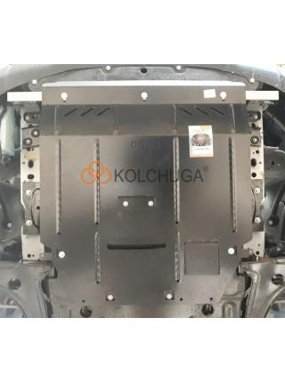 Защита двигателя, КПП, радиатора для авто Ford Transit V363 MCA 2019- 2.0TDCi ecoblue euro 6,2, 20.05.19 г. (V363 MCA, МКПП, полный привод) ( TM Kolchuga ) ZiPoFlex