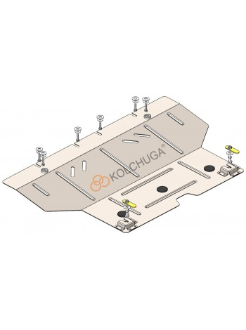 Защита двигателя, КПП для авто Fiat 500 2010-2019 V-1,4і (АКПП, USA) ( TM Kolchuga ) Стандарт