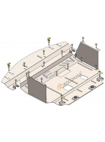 Защита двигателя, КПП, радиатора для авто Kia Forte YD ( 2014-2018 ) V-1,8i; 2,0 ( TM Kolchuga ) Стандарт