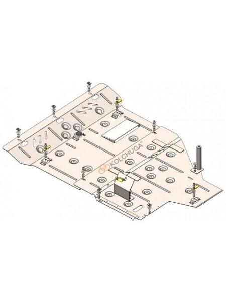 Защита двигателя, КПП, заднего моста для авто Mercedes-Benz Vito D (W447) 2019- V-2,0 СDI з 03.2019 г. (только полный привод/АКПП) ( TM Kolchuga ) ZiPoFlex