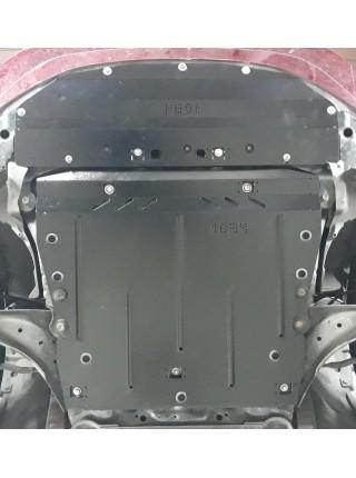 Защита двигателя, КПП, радиатора для авто Nissan Leaf II 2017- V-все (електромобіль) ( TM Kolchuga ) ZiPoFlex