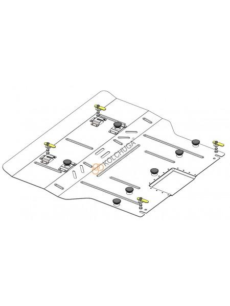 Защита двигателя, КПП для авто Cadillac XT-5 ( 2016- ) V-3.6i ( АКПП ) ( TM Kolchuga ) ZiPoFlex