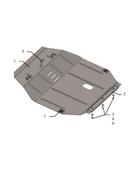 Защита двигателя, КПП для авто MG 5 2018- V-1,5 ( TM Kolchuga ) ZiPoFlex