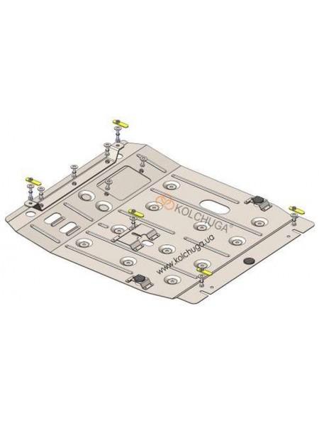 Защита двигателя , КПП, радиатора для авто Jeep Compass 2006-2016 V-2,0 (АКПП/USA) ( TM Kolchuga ) ZiPoFlex