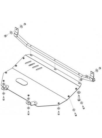 Защита только двигателя для авто Audi 80 B4 1991-1996 V-1.6;1.8;2.0; ( TM Kolchuga ) Стандарт