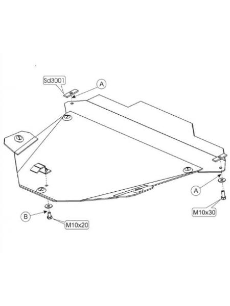 Защита двигателя, КПП, радиатора для авто Honda CR-V II 2002-2006 V-2.0 2,4 2.2D ( TM Kolchuga ) ZiPoFlex