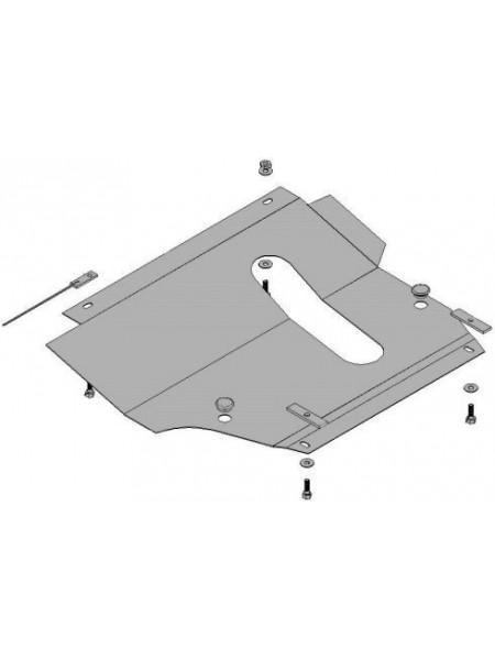 Защита двигателя, КПП, радиатора для авто Nissan Micra 2002-2010 VV-1.2; 1,4; (АКПП) ( TM Kolchuga ) Стандарт