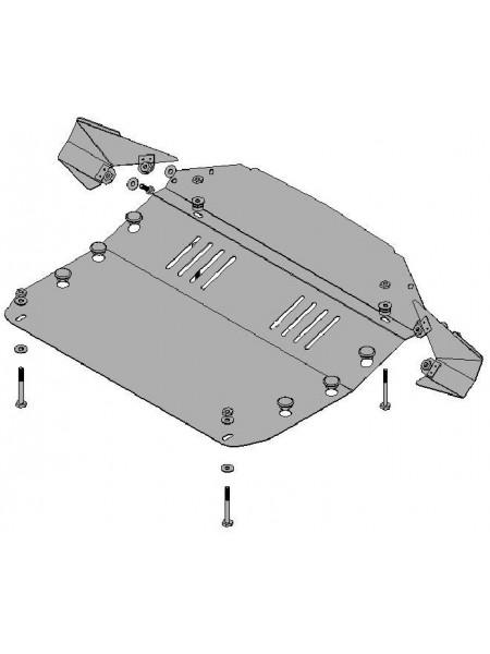 Защита двигателя, КПП, радиатора для авто Hyundai Tucson ( 2004- ) V-все (ZiPoFlex®) ( TM Kolchuga ) ZiPoFlex