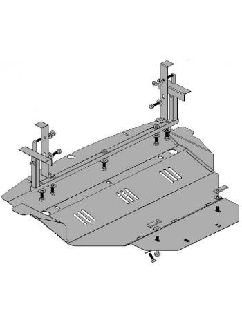 Защита двигателя, КПП, радиатора для авто Infiniti FX 35 2003-2008 V-3,5 (АКПП) ( TM Kolchuga ) ZiPoFlex