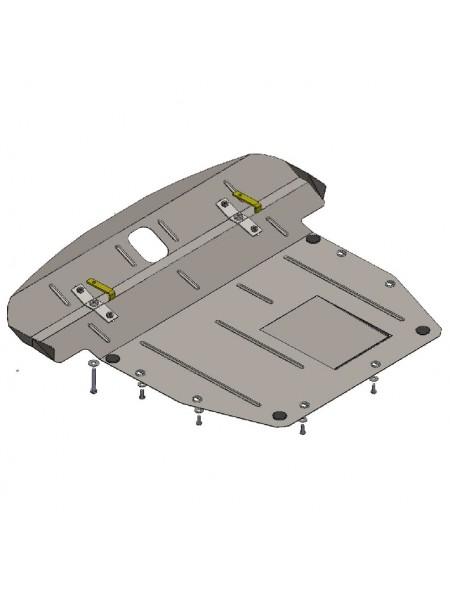 Защита двигателя, КПП, радиатора для авто Hyundai Santa Fe 2006-2012 V-все (МКПП, АКПП, ZiPoFlex®) ( TM Kolchuga ) ZiPoFlex