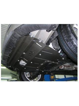 Защита двигателя, КПП, радиатора для авто Hyundai IX35 2010- V-все Бензин АКПП МКПП ZiPoFlex® ( TM Kolchuga ) ZiPoFlex