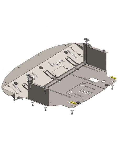 Защита двигателя, КПП, радиатора для авто Kia Sportage III 2010-2015 2,0 Б (АКПП, МКПП, ZiPoFlex®, только бензин) ( TM Kolchuga ) ZiPoFlex