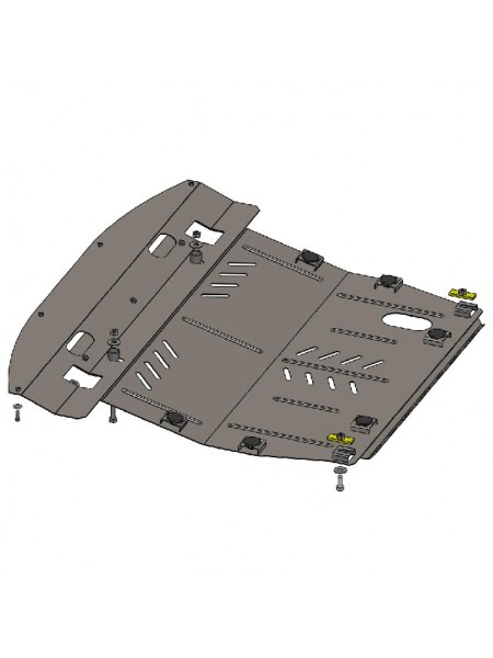 Защита двигателя, КПП, радиатора для авто Infiniti JX 35 2012- V-3,5 (АКПП) ( TM Kolchuga ) ZiPoFlex