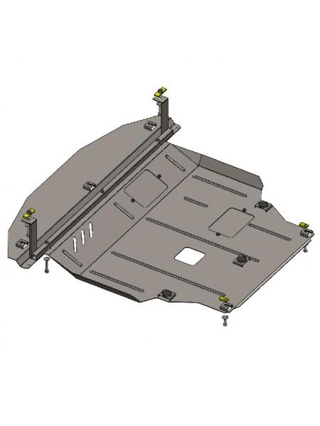 Защита двигателя, КПП, радиатора для авто Kia Sorento II 2013-2015 V-2,2 CRDI (ZiPoFlex®, только Корейская сборка) ( TM Kolchuga ) ZiPoFlex