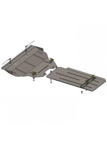 Защита двигателя, КПП, радиатора для авто Infiniti FX 30D FX 37 2009- V-3,0D; 3,7; (АКПП) ( TM Kolchuga ) ZiPoFlex