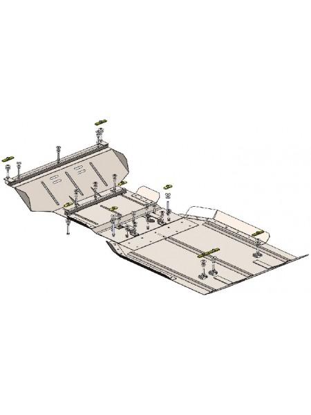 Защита двигателя, КПП, РКПП, радиатора для авто Ford F-150 2009-2014 V-5.4i (АКПП, 3мм сталь) ( TM Kolchuga ) ZiPoFlex