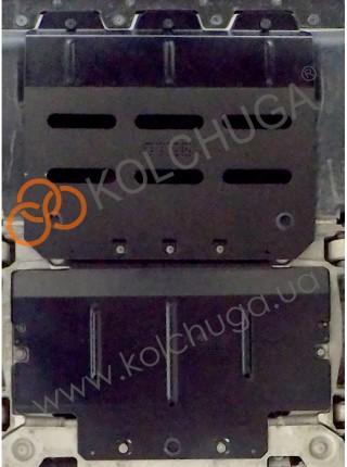 Защита двигателя, радиатора для авто Maserati Levante 2016- V-3,0i; 3,0 TDI; (АКПП) ( TM Kolchuga ) ZiPoFlex
