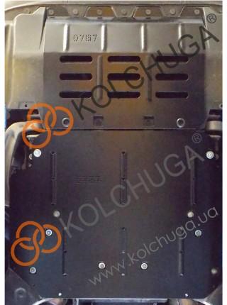 Защита двигателя, радиатора для авто Maserati Quattroporte Q4 VI (M156) 2013- V-3,0и АКПП ( TM Kolchuga ) ZiPoFlex