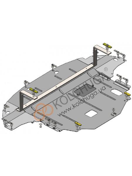 Защита двигателя, КПП, радиатора для авто Hyundai Ioniq Hybrid 2016- V-1,6i (АКПП) ( TM Kolchuga ) ZiPoFlex