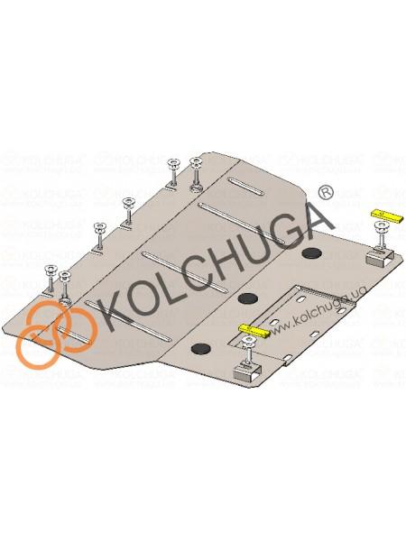 Защита електродвигателя, КПП для авто Fiat 500 E 2013- V-111л.с. (83кВт), сборка USA АКПП ( TM Kolchuga ) ZiPoFlex
