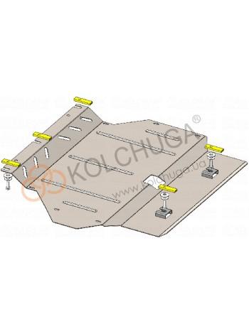 Защита двигателя, КПП для авто Honda Fit III (USA) 2013- V-1,5i (АКПП) ( TM Kolchuga ) ZiPoFlex