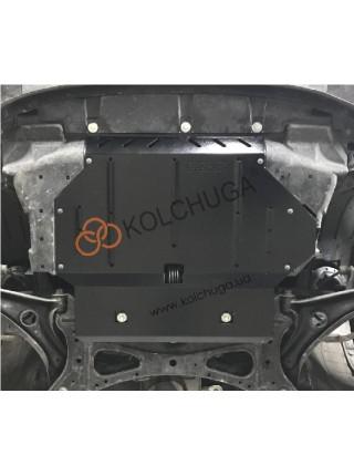 Защита двигателя, КПП для авто Honda Jazz 2013- V-1,5и АКПП ( TM Kolchuga ) ZiPoFlex