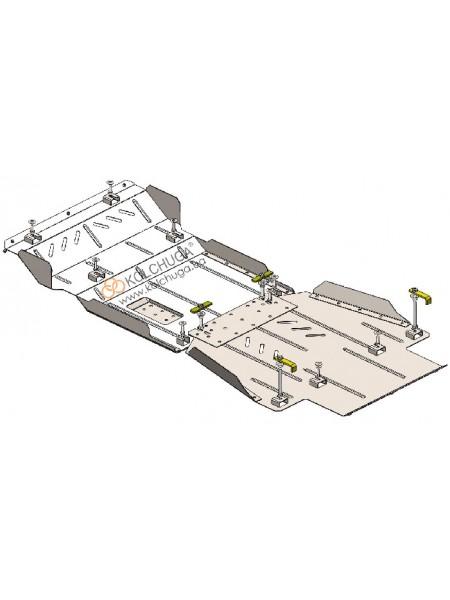 Защита двигателя, КПП, РКПП, передний мост Great Wall Haval H9 2017- V-2,0 TDI (AКПП, 4x4) ( TM Kolchuga ) ZiPoFlex