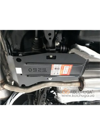 Защита заднего дифференциала для авто Nissan Qashqai J11 2014- V-все (задний дифференциал) ( TM Kolchuga ) ZiPoFlex