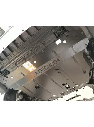 Защита двигателя, КПП, Ford Focus IV 2019- V-1,5і; 1,5TDI; (АКПП) ( TM Kolchuga ) ZiPoFlex