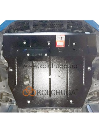 Защита двигателя, радиатор, КПП Jac S3 2016- V-1,6i (АКПП) ( TM Kolchuga ) ZiPoFlex